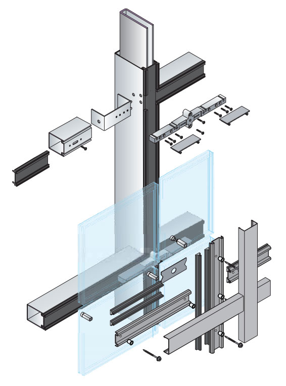 Curtain wall glazed window system